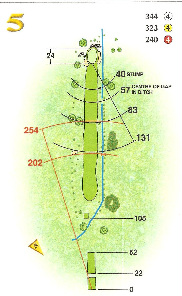 Hole 5 Beech Park Golf Club In Rathcoole Co Dublin Ireland Diagram Book